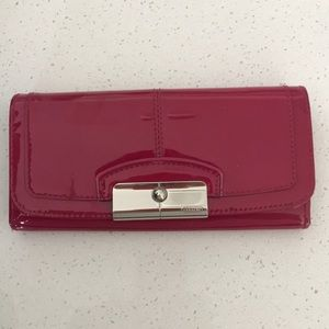 Hot Pink patent leather Coach wallet